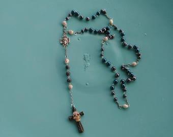 Skull rosary, 5 decade rosary