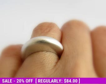 Sterling Silver Wedding Ring, Alternative Wedding Ring, Wedding Band, Silver Ring, Stacking Ring, Boho Ring, Silver Wedding Ring, Bohemian