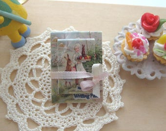 dollhouse writing pad notepad easter 12th scale miniature