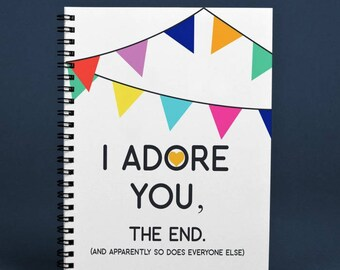 I Adore You, The End.  Book of Letters Printable (Great Gift Idea)