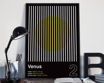 VENUS (Wall Art, Graphic Poster, Modern Art Print, Venus Poster, Geometric Poster)