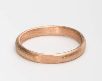 rose gold wedding band women rose gold wedding ring 14k gold ring signet