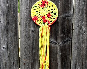 Crochet Rasta Dreamcatcher