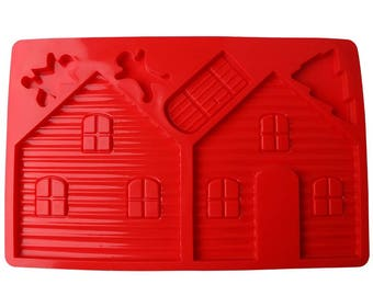 Gingerbread House Silicone Mold - M-790 -  Baking Fondant Candy Royal Icing