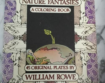 Nature Fantasies Colouring / design ref book by William Rowe 1977