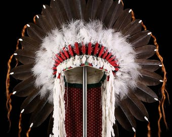 Cheyenne style Feather War Bonnet (replica)