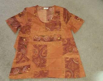 Size large blouse vintage-blouse- top- vintage tops-vintage blouses- -plus size clothing-