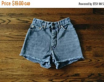 HELLO SUMMER SALE Vintage Subtle Blue Denim High Waist Shorts