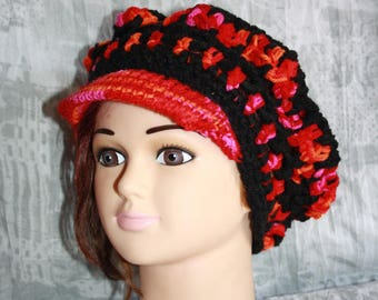 multicolored hat, crochet, very hot 6