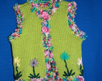 (very ornate) 3-4 years sleeveless vest