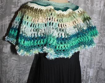 warmers shoulders or poncho short cotton/acrylic /laine