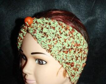 headband green and rust
