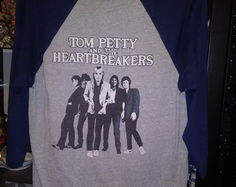 1981 Tom Petty and the Heart Breakers Hard Promises Tour 81 Ringer Baseball Jersey Tour Tee