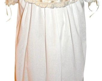 XMAS in July Heirloom Dress with Round Collar, French Lace and Satin Ribbon pp3002