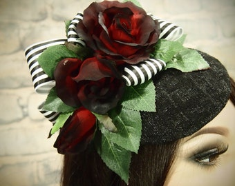 Rose Cocktail Hat