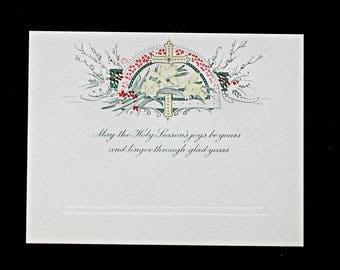 Vintage Easter Card, Antique Easter Card, 1920s Easter Card, 1920s Christian Card, Vintage Easter Greeting Card, Vintage Easter Decor