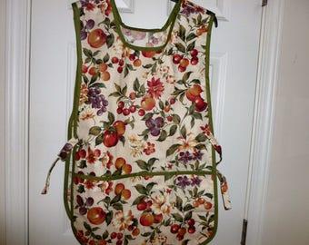 Fruit floral apron