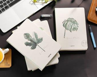 Leaf patten notebook,hard cover journal,Art Journal,Sketchbook,Diary