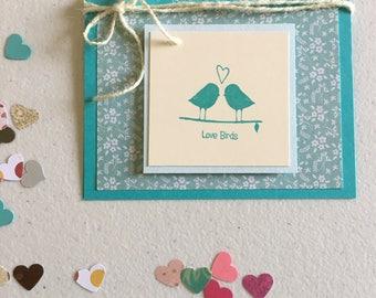 Love Birds Cards - Wedding Cards - Anniversary Cards - Valentine's Cards - Girlfriend Cards - Boyfriend Cards - Encouragement Cards