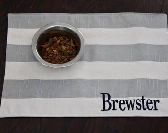 Personalized Pet Food Placemat - Pet Bowl Mat - Pet Placemat - Dog Placemat - Cat Placemat - Pet Gift - ALL SIZES