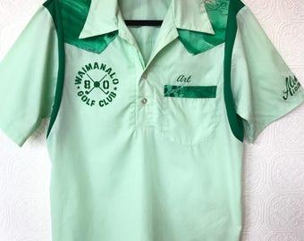 1970's Waimanalo Golf Club Bowling Shirt