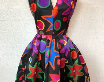 1980's Silk Party Dress