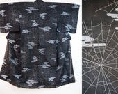 Mens Yukata black spider ...