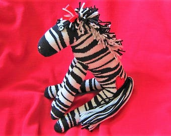 Sock Monkey Zebra Zelda Stuffed Animal Toy Plush Doll