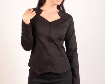 Black cotton jacket from Chilia Vlatza