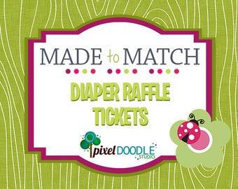 Made to Match Printable - Party Printable - Diaper Raffle Tickets