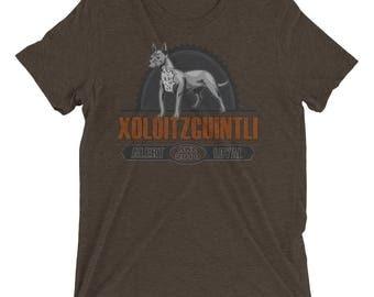 Xoloitzcuintli Vintage Style Short sleeve tri-blend t-shirt