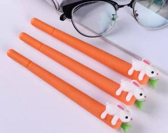 Bunny on Carrot Gel Pen .5mm Black P1013B