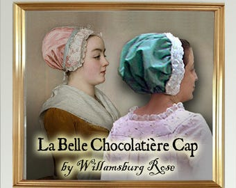 Lady's 18th Century Chocolate Girl Colonial Cap