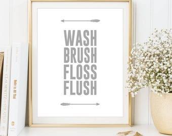 bathroom arrow sign | etsy