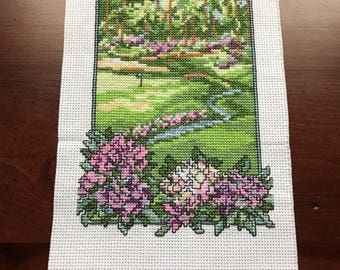 Finished cross stitch golf course