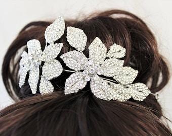 ON SALE Small Bridal Tiara Wedding hair piece Wedding Tiara Crystal Tiara Bridal Headpiece  Flower  Crown Rhinestone Tiara Diamante Crown