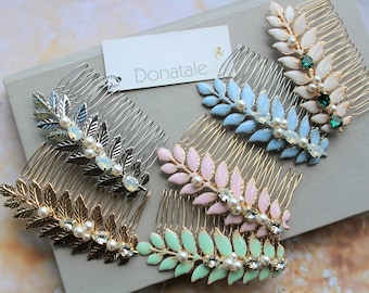 Wedding Hair comb, Wedding Hair Piece , Leaf Hair Comb, Grecian Headpiece, Wedding Hairpiece ,Bridesmaid Hair comb- LAUREL