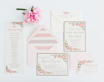 Floral Wedding Invitation Suite // Elegant and Timeless // Purchase this Listing to Get Started