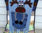 Moose Table Runner and Pillow Custom order FINAL payment for Paula