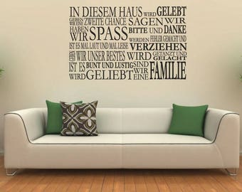 Wall stickers IN this House... (3202n)