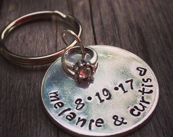 Bridal Party Gift - Custom Keychain - Wedding Keychain - Bridal Party Keychain - Personalized Keychain - Engraved Keychain