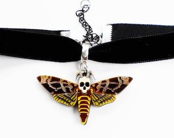 Death's head hawk moth choker