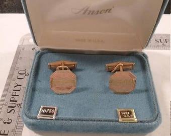 10% OFF 3 day sale Vintage  12k gold filled cufflinks  lot aabq