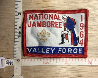 Vintage 1964 Boy Scouts Patch National Jamboree Valley Forge Used