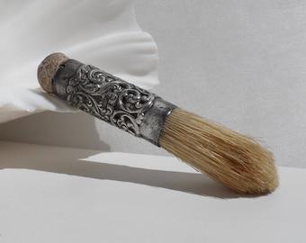 Antique Art Nouveau Sterling Silver Shaving Brush