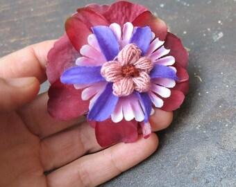 "Flower brooch-clip-barrette ""when spring..."" NO. 7"
