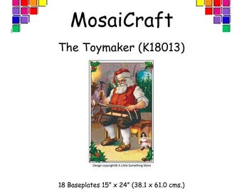 MosaiCraft Pixel Craft Mosaic Art Kit 'The Toymaker' (Like Mini Mosaic and Paint by Numbers)