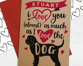 Personalised Valentine's Day Card With ANY Standard Dog Breed