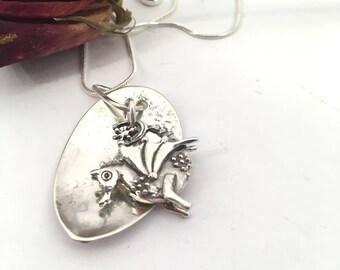 Dutch dragon spoon necklace vintage spoon necklace - dragon necklace - vintage dragon spoon necklace - dutch dragon