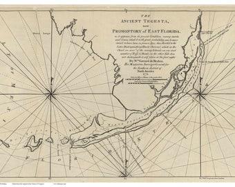 Florida Keys - 1702 Old Map Reprint Florida Special